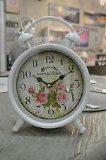 Senteurs De Rose Clock / Bedside Clock / Cream / Floral / Antique Clock