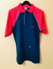 New listing BNWT Donic Retro Blue & Pink Table Tennis Polo Shirt - size XS