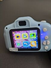 Blue Kids Digital Camera Camcorder 12MP 1080P FHD Video Camera 4X Zoom 16GB Gift