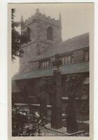 Ilkley Church Saxon Crosses Yorkshire England Vintage RPPC Postcard US157