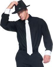 Morris Costumes Adult Men's 1920's Gangster Shirt Black One Size. UR29136