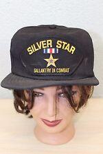 Silver Star Gallantry in Combat Baseball Trucker Cap Hat Adjustable Snapback