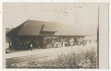RPPC NYC New York Central Railroad  JERSEY SHORE PA Depot Real Photo Postcard