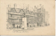 PC05777 Old Houses. Holborn. Sketch Postcard. 1934
