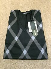 Peter Werth Retro Argyle Knit With Plain Sleeves/Black - Large (4)