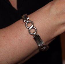 """GEORG JENSEN Sterling Silver 7"""" Infinity Link Bracelet"""