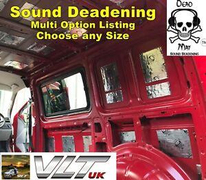 SOUND DEADENING PROOFING CAMPER VAN VW CAR BUTYL DEAD MAT METAL FOIL AUDIO PANEL
