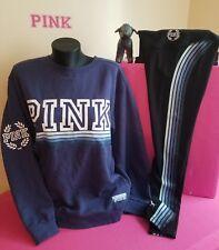 Victoria Secret PINK CREW SWEATSHIRT ULTIMATE YOGA LEGGINGS EUC SET S/XS OMBRE