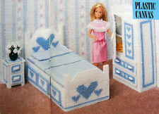 Plastic Canvas Pattern Only: Barbie's Little Sister's 3-Piece Hearts Bedroom Set