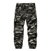 Hot Mens Cargo Pants Camo Wearproof Army Military Combat Casual Working Trousers