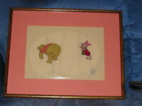 DISNEY WINNIE THE POOH AND PIGLET ORIGINAL PRODUCTION ANIMATION CEL