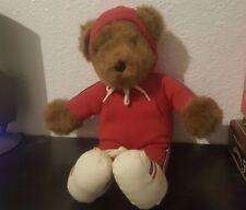 "13"" VINTAGE 1979 ALBERT RUNNING TEDDY BEAR STUFFED ANIMAL PLUSH TOY NORTH AMERIC"