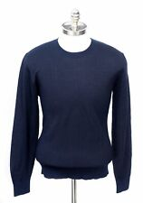 $1495 NWT BRIONI Navy Striped Silk Wool Cashmere Pullover Crewneck Sweater 54 XL