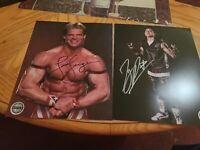 Pro Wrestling Crate Autograph Photos Lex Luger TJP WWF WCW NWA