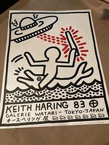 Keith Haring Original Print..Galerie Watari 1983..Exhibition Poster Edition 1000
