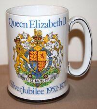 QUEEN ELIZABETH SILVER JUBILEE 1952-1977 MUG WOOD & SONS ENGLAND