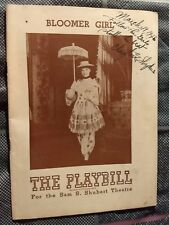 Vintage 1946 Playbill Bloomer Girl