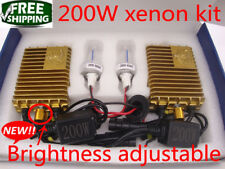 NEW Brightness Adjustable 200W HID Xenon Headlight Kit Light Bulbs Lamp H1 White