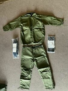 US military sealed NBC MOPP protective suit green olive drab size Large +extras