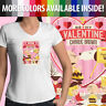 Peanuts Be My Valentine Charlie Brown Snoopy Love Juniors V-Neck Tee T-Shirt Top