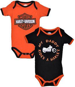 Harley-Davidson Boys MY DADDY RIDES A HARLEY One-piece Creeper 2-pc Set 1153042