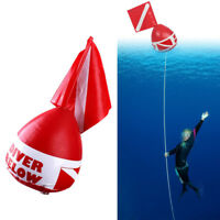 Buoy Inflatable Diver Down Flag Float Marker Scuba Diving Underwater Accessories