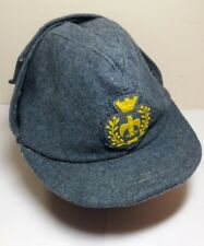 Post WW2 Italian Air Force Bustina Wool Hat with Crowned Eagle Badge