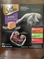 SHEBA PERFECT PORTIONS Soft Wet Cat Food Paté in Natural Juices Savory Chicke...