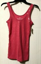 Aeropostale NWT Pink Sequin Ribbed Tank Top Size Medium