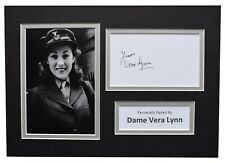 Vera Lynn Signed Autograph A4 photo display Music Memorabilia AFTAL COA