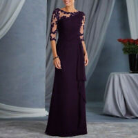 Women Formal Wedding Bridesmaid Evening Party Cocktail Maxi Dress Ball Gown Prom