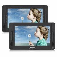 """2x 10.1"""" Tragbare DVD Player Auto Kopfstütze Bildschirm TFT Monitor USB SD AKKU"""