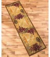 "Decorative Vineyard Themed 22""x 86"" Runner Rug Grapes Tuscan Home Decor"