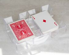 Chh Revolving Card Holder Deck Clear Plastic Playing Tray 2 Decks Game Play Toy