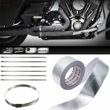 Heat Shield Wrap Tape for Car intake pipe Aluminium Reflective insulation+6strip