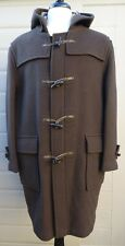 BURBERRY LONDON BROWN LANA WOOL DUFFLE COAT SIZE 50 XL NEW WITH TAGS