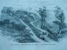 Gravure 1872 - Iles Andaman Port Blair dans l'ile Ross