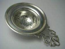 HASSELBRING STERLING SILVER TEA STRAINER by John Hasselbring of Brooklyn ca1900s