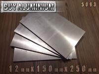 12mm Aluminium Plates / Sheets 150mm x 250mm - 5083