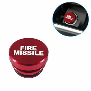Universal Fire Missile Eject Button Car Lighter Cover 12V Accessories