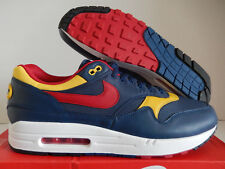 "NIKE AIR MAX 1 PREMIUM QS ""SNOW BEACH"" NAVY BLUE-RED-SULFUR SZ 13 [875844-403]"