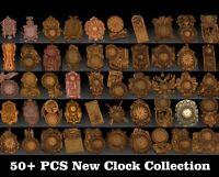 50+ Pcs 3D STL Models New Clock Set CNC Router Carving Machine Artcam aspire