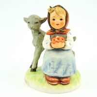 "Vintage Goebel Hummel Good Friends 182 TMK-6 4.5"" Tall girl and a lamb"