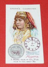 CIGARETTES SMITH'S CARD NATIONS OF WORLD 1923 N° 6 ALGERIA ALGERIE FRANC ALGER