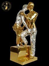 Bronze Sculpture Erotic Figure Sexual Statue Handmade 2 kissing Gays Homosexuel