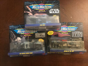 1995 Galoob Micro Machines Space  #65860 Sealed All 3Set Star Wars/ Empire/ Jedi