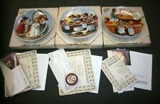 Edwin M. Knowles Jeanne Downs Friends I Remember Collector'S Plate Set Of 3