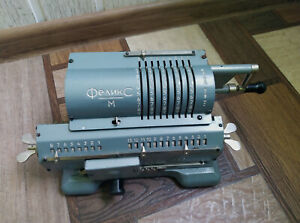 SOVIET VIntage Mechanical Calculator FELIX ADDING MACHINE ARITHMOMETER 70s USSR