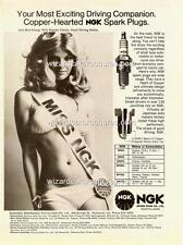 1972c NGK HOT SEXY BIKINI GIRL A3 POSTER AD ADVERTISEMENT BROCHURE FORD HOLDEN