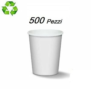 🥃 500 BICCHIERI DI CARTA 180 ML BIANCO ASPORTO CAPPUCCINO CAFFÈ 🥃